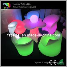 Canapé de meuble à LED RVB extérieur