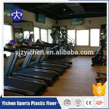 Wood pattern gym aerobic exercise area pvc sports plastic flooring