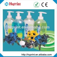 custom transparent sticker for shampoo bottle customized design