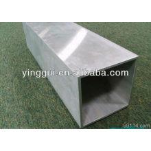 Aluminium alloy extruded rectangular pipes 6463