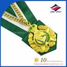 Medallas de encargo baratas Hacer la medalla del metal aduana Cintas de la medalla militar