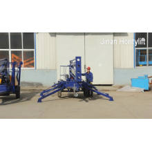 10m hydraulic trailer boom lift for cleaning