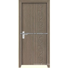 Puerta de madera de MDF barato JKD-M690 con PVC Fimed
