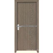 Деревянные двери JKD-M690 дешевые МДФ с ПВХ МДЖДР