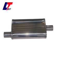 Stainless polished oval exhaust car muffler  LT12256P