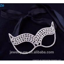 O rhinestone bonito da jóia da forma caçoa máscaras do partido do disfarce, máscaras baratas do partido