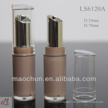 LS6120A slim lipstick container with slant cap