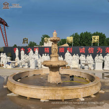 outdoor Decorative large statue marble water fountain