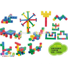 JQ1055 Preschool Kids Plastic Educational Square building Blocks Puzzle