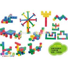JQ1055 Pré-Escolar Crianças Plástico Educacional quadrado Building Blocks Puzzle