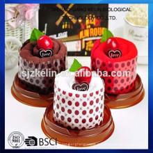 China Heißer Verkauf Kuchen Handtuch für Kindertag Geschenk Kuchen Handtuch / Geschenk Handtuch / Gesicht Handtuch / Strand Handtuch / Handtuch;