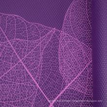 factory manufacturer cheap price   custom leaf design purple  fitness non slip premium pvc yoga mat