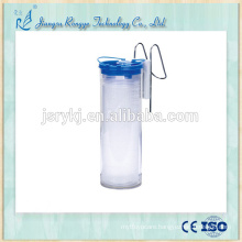 2000ml suction liner canister with shutoff filter for medical liquid drainage device