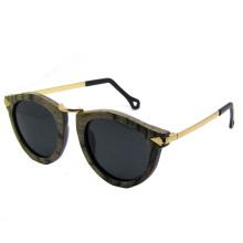 Vintage moda óculos de sol de madeira (sz5685-1)