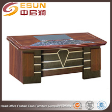 2016 latest design office furniture round edge manager wooden MDF office desk with paper painting