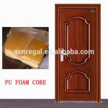Finition de peinture Porte intérieure en bois de mousse de polyuréthane