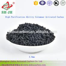 Capacidad de alta purificación Columnar Carbón activado