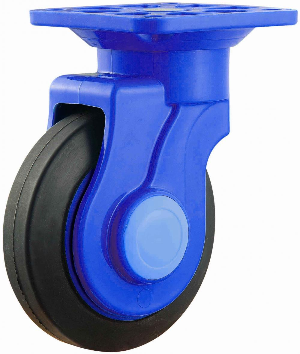 Platform Trolley Nylon Bracket Quiet Rubber Caster Swivel