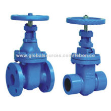 Stainless steel resilient seated gate valve