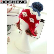 New Women Knit Beanie Ball Wool Cuff Hat