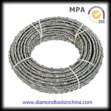Sierra de alambre de diamante electrochapada para cantera