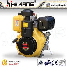 Motor diesel com cor amarela do eixo da ranhura (HR192FB)