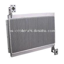 Echangeur de chaleur en aluminium à plaque fini pour machine de construction / échangeur de chaleur à double tuyauterie / pièces d'équipement de construction