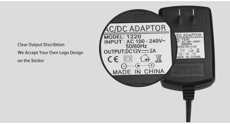 adapter charger 12v 2a for lg
