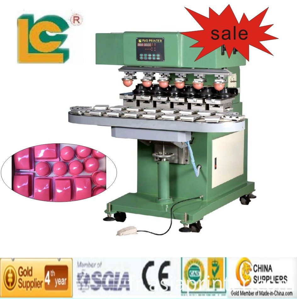 Six Colour Closed ink Cup Pad Printer