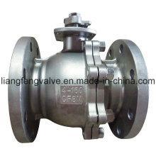Válvula de esfera de aço inoxidável com flange de RF