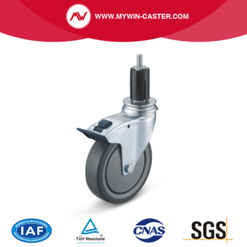 Braked Round Expander Swivel TPE Institutional Caster