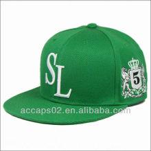 Personalizado plana brim correa espalda sombreros