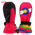 Colorful Gripper Palm Outdoor Sports Thinsulate Children Ski Gloves