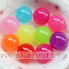 Varnished Florescent Round Beads Jewelry Accessory Ornaments
