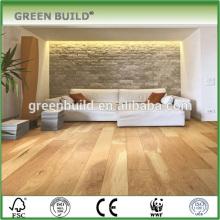 Color claro suelo de madera multicapa de nogal resistente al desgaste