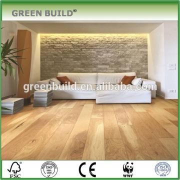 Light color wear-resistant hickory multilayer wood flooring