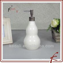 Design drôle Vente en gros Pomme de porcelaine en céramique Distributeur de lotions en mousse Dispensateur de savon liquide
