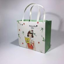 Korean Style Garment Paper Bags With Rivet Handles