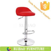 Rojo de moda PU / silla de bar de cuero silla de pub ajustable comedor silla