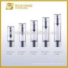 20ml/25ml/30ml/40ml/50ml aluminium airless bottle for cosmetic lotion cream,aluminium cosmetic airless bottle