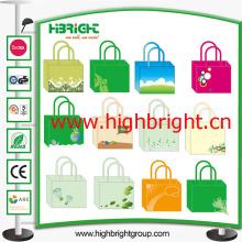 Projeto do saco de compras do supermercado da fábrica de China na venda
