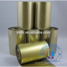 Bopp Vinyl pvc label printing metallic gold ribbon for Argox CP2140 printer