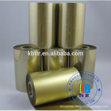 Bopp Vinyl pvc label printing metallic gold ribbon for Argox CP2140 printer