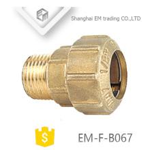 EM-F-B067 1/2 união união macho rosca compressão Espanha encaixe de tubulação