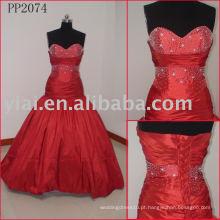 Elegante vestido de festa de seda real realista tafetá PP2084