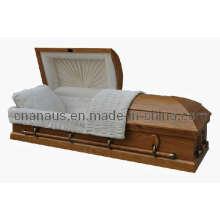Nos estilo sólido caixão de madeira de Carvalho (5050005)