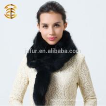 2015 Mais novo lenço de inverno para senhoras lençoes inteiras cachecol genuíno de pele de raposa
