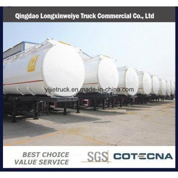 Semirremolque de tanque de combustible de aceite de 3 ejes 45cbm
