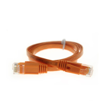 Orange ethernet cat6 Flat Patch Cable