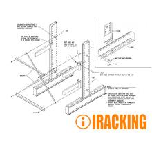 Armazém Cantilever Racking (IRQ)